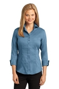 RH690 RH Ladies 3/4 Sleeve Nailhead Non-Iron Button-Down Shirt