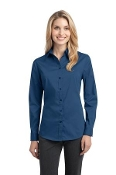 L646 PA Ladies Stretch Poplin Shirt
