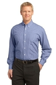S639 PA Plaid Pattern Easy Care Shirt