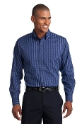 TLS642 PA Tall Tattersall Easy Care Shirt
