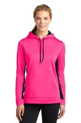 LST235 ST Ladies Sport-Wick® Fleece Colorblock Hooded Pullover