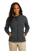 EB533 EB Ladies Shaded Crosshatch Soft Shell Jacket