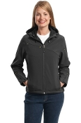 L706 PA Ladies Textured Hooded Soft Shell Jacket