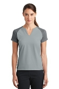 838960 Nike Ladies Dri-FIT Stretch Woven V-Neck Top