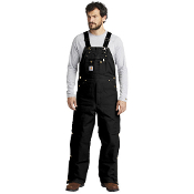 CTR41 Carhartt ® Duck Quilt-Lined Zip-To-Thigh Bib Overalls