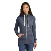 LNEA122  New Era® Ladies Sueded Cotton Blend Full-Zip Hoodie