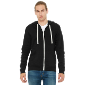 BC3909  BELLA+CANVAS ® Unisex Triblend Sponge Fleece Full-Zip Ho