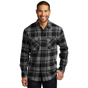 W668  Port Authority® Plaid Flannel Shirt