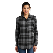 LW668  Port Authority® Ladies Plaid Flannel Tunic