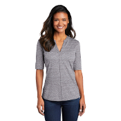 LK583 Port Authority ® Ladies Stretch Heather Open Neck Top