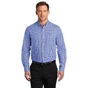 W644 Port Authority ® Broadcloth Gingham Easy Care Shirt