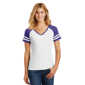 DM476  District ® Women's Game V-Neck Tee